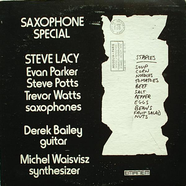 STEVE LACY - Saxophone Special cover