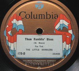 THE LITTLE RAMBLERS - Them Ramblin' Blues / Arkansas Blues cover