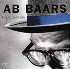 AB BAARS Time To Do My Lions album cover