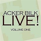 ACKER BILK Live! Vol. 1 album cover