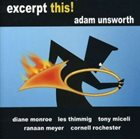 ADAM UNSWORTH Excerpt This album cover