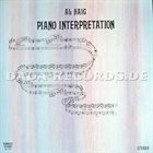 AL HAIG Piano Interpretation  (aka Solitaire) album cover