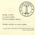 ALVIN CURRAN Natural History album cover