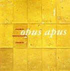 ANDERS JORMIN Jormin  - Gustafsson  - Jormin  : Opus Apus album cover