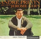ANDRÉ PREVIN André Previn Plays Songs By Jerome Kern album cover