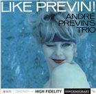 ANDRÉ PREVIN Like Previn! album cover