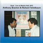 ANTHONY BRAXTON Duet: Live At Merkin Hall (with Richard Teitelbaum) album cover