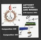ANTHONY BRAXTON GTM (Syntax) 2003 album cover
