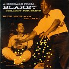 ART BLAKEY Holiday for Skins, Volume 1 album cover