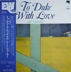 ART FARMER To Duke With Love album cover