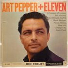 ART PEPPER Art Pepper + Eleven album cover