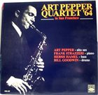 ART PEPPER Art Pepper Quartet' 64 In San Francisco album cover
