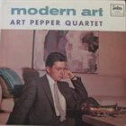 ART PEPPER Modern Art album cover