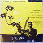 ART PEPPER The Art Of Pepper Vol. II album cover