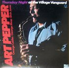 ART PEPPER Thursday Night at the Village Vanguard album cover