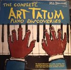 ART TATUM The Complete Art Tatum Piano Discoveries album cover