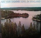ART VAN DAMME Live In Finland album cover