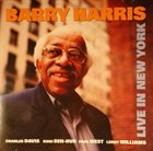 BARRY HARRIS Live in New York album cover