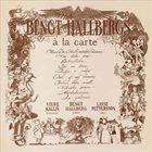 BENGT HALLBERG À la carte album cover