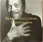 BENGT HALLBERG Improvisation album cover