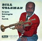 BILL COLEMAN From Boogie to Funk album cover