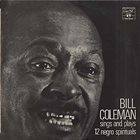 BILL COLEMAN Sings And Plays 12 Negro Spirituals album cover