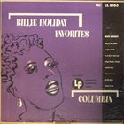 BILLIE HOLIDAY Billie Holiday Favorites album cover