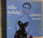 BILLIE HOLIDAY Billie Holiday Vol. 1 album cover