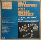 BILLY BUTTERFIELD Plays George Gershwin (with Lino Patruno and the Milan College Jazz Society) album cover