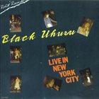BLACK UHURU Live In New York City album cover