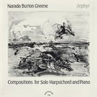 BURTON GREENE Zephyr: Compositions For Solo Harpsichord and Piano album cover