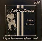 CAB CALLOWAY Singin' N' Swingin' album cover