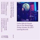CARLOS NIÑO & FRIENDS Live At The World Stage album cover