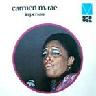 CARMEN MCRAE In Person album cover