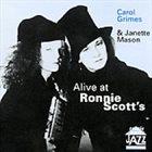 CAROL GRIMES Alive At Ronnie Scott's album cover