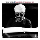 CECIL TAYLOR Piano Solo at Town Hall 1971 album cover