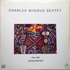 CHARLES MINGUS Paris, TNP October 28th 1970 (aka Charles Mingus In Paris 1970) album cover