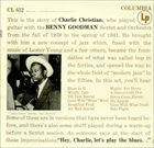 CHARLIE CHRISTIAN With The Benny Goodman Sextet And Orchestra album cover