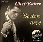 CHET BAKER Boston 1954 album cover
