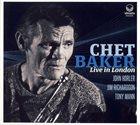 CHET BAKER Chet Baker Live In London album cover