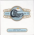 CHICAGO Live in '75 album cover