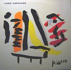 CHRIS ABRAHAMS Piano album cover