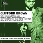 CLIFFORD BROWN New York 1954-55 Two Original Albums album cover