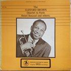 CLIFFORD BROWN The Clifford Brown Quartet In Paris album cover