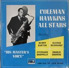 COLEMAN HAWKINS Coleman Hawkins All Stars (His Master's Voice) album cover