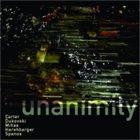 DANIEL CARTER Carter, Dukovski, Mihas, Harshbarger, Spanos : Unanimity album cover