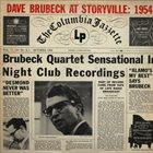 DAVE BRUBECK The Dave Brubeck Quartet : Dave Brubeck At Storyville - 1954 album cover