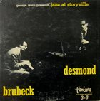 DAVE BRUBECK Brubeck, Desmond : Jazz At Storyville album cover
