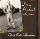 DAVE BRUBECK Private Brubeck Remembers album cover
