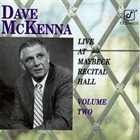 DAVE MCKENNA Live at the Maybeck Recital Hall Series vol.2 album cover